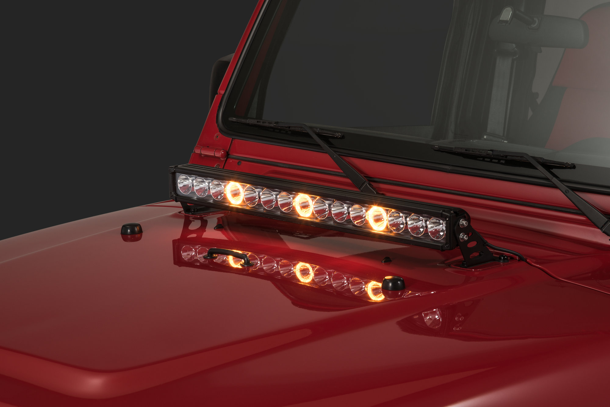 hight resolution of quadratec j3 led 28 light bar with hood mount brackets and wiring for 97 06 jeep wrangler tj unlimited quadratec