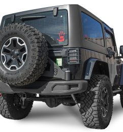 jcr offroad jk10a tcs pc hardrock tire carrier for 13 18 jeep wrangler jk with mopar 10th anniversary rubicon hard rock edition bumpers quadratec [ 2000 x 1644 Pixel ]