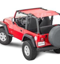 mastertop shademaker bimini top plus for 92 06 jeep wrangler yj tj [ 2000 x 1335 Pixel ]