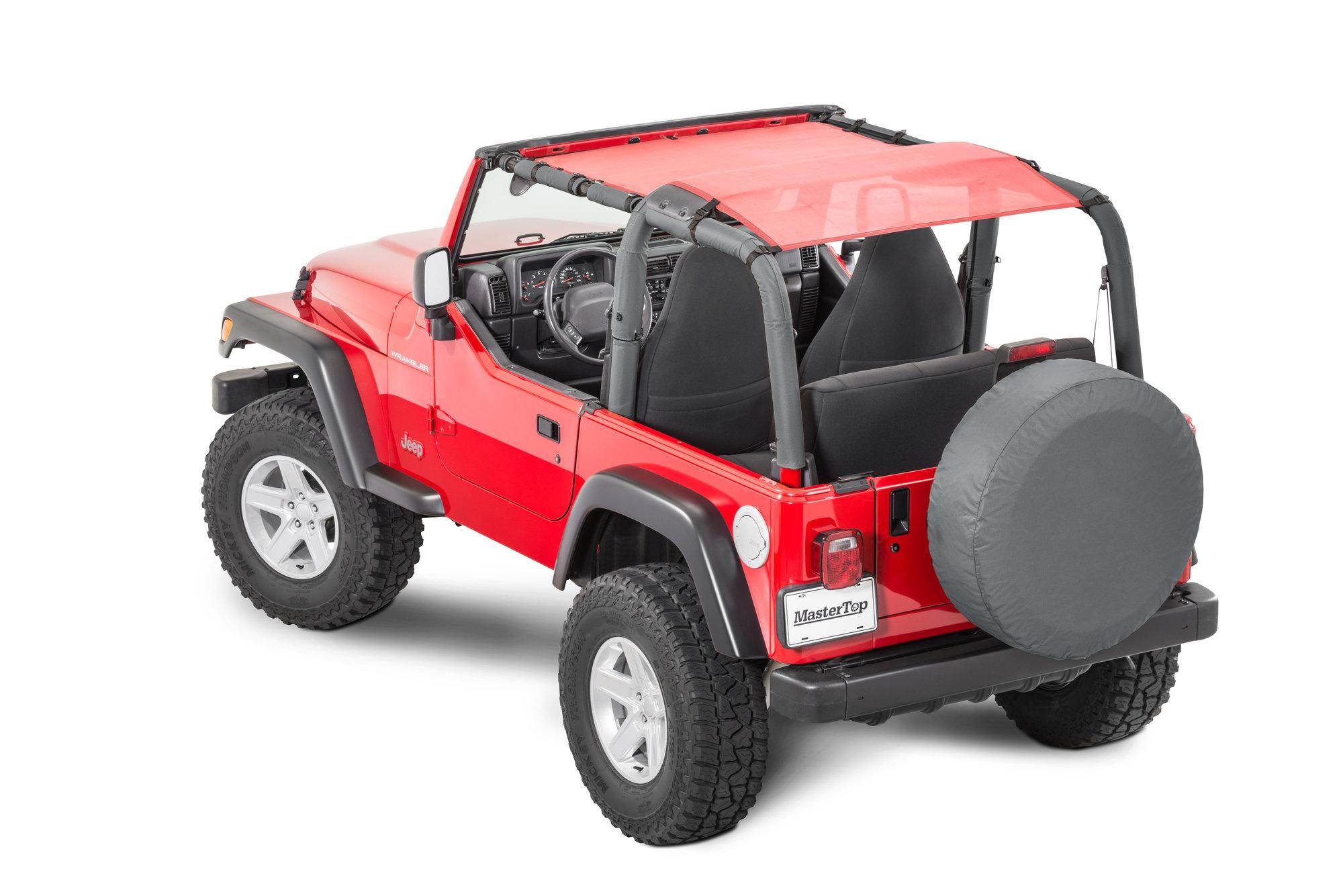 hight resolution of mastertop shademaker bimini top plus for 92 06 jeep wrangler yj tj