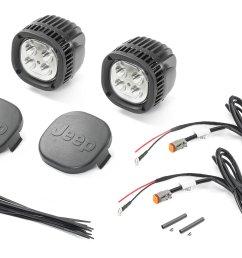 mopar 82215385ab 5 led offroad light kit for 18 19 jeep wrangler jl 2020 gladiator jt [ 2000 x 1335 Pixel ]