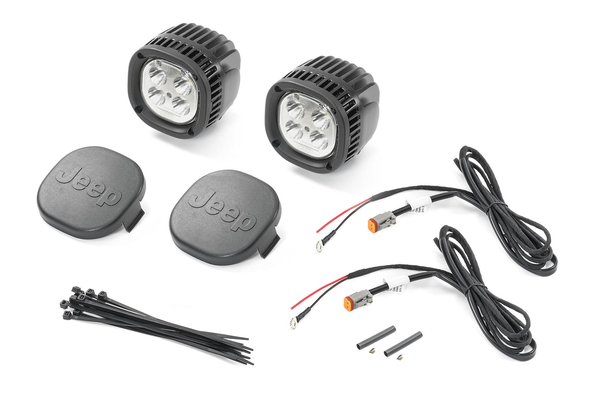 hight resolution of mopar 82215385ab 5 led offroad light kit for 18 19 jeep wrangler jl 2020 gladiator jt