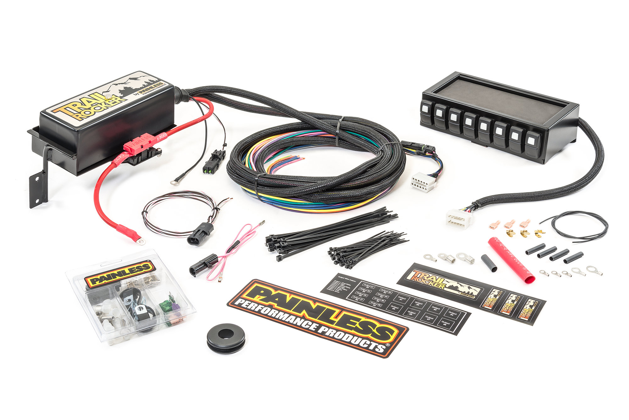 hight resolution of painless wiring 57040 trail rocker system with dash mounted panel painless wiring jeep cj7 painless wiring