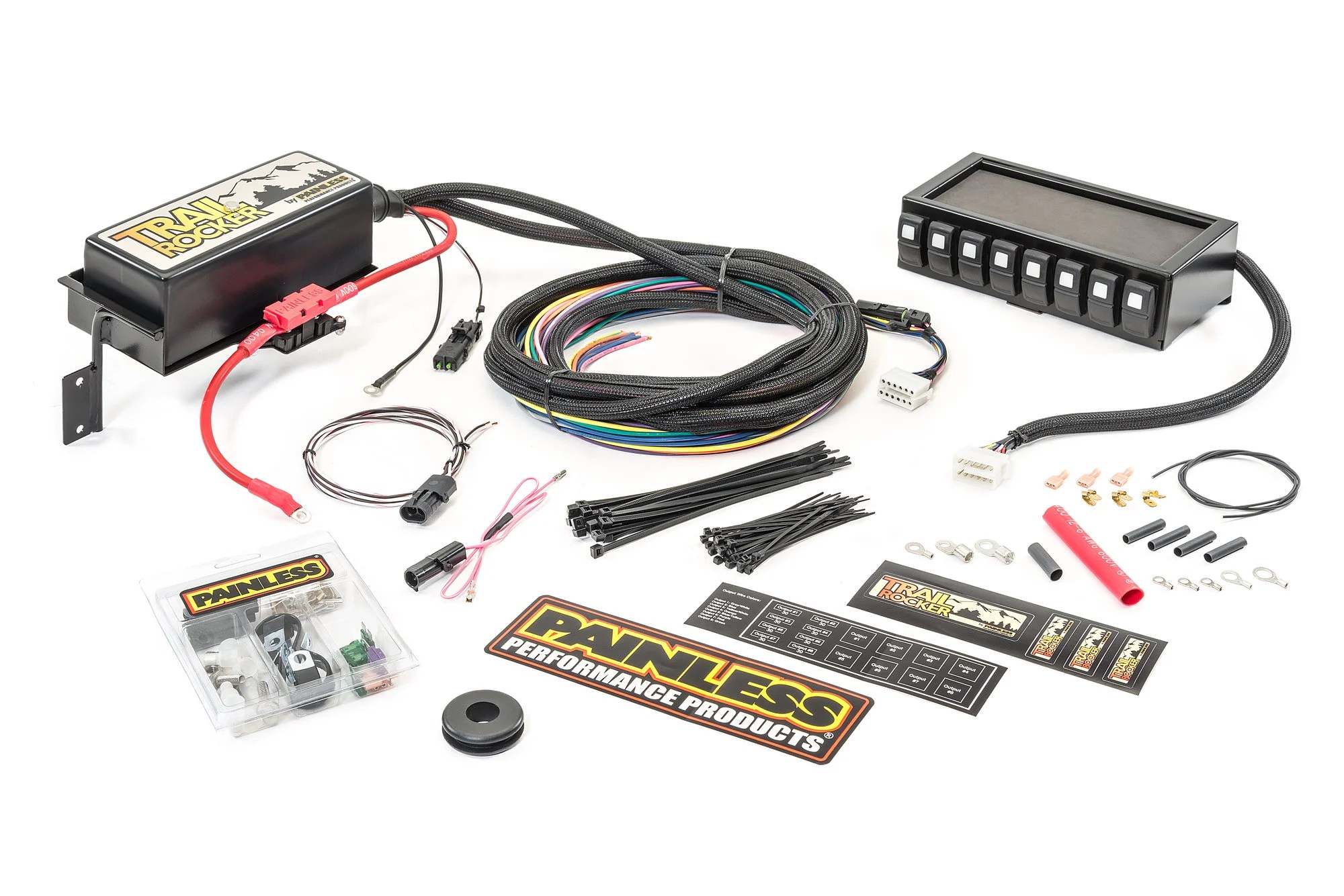 hight resolution of painless wiring 57040 trail rocker system with dash mounted panel painless wiring harness jeep cj7 painless