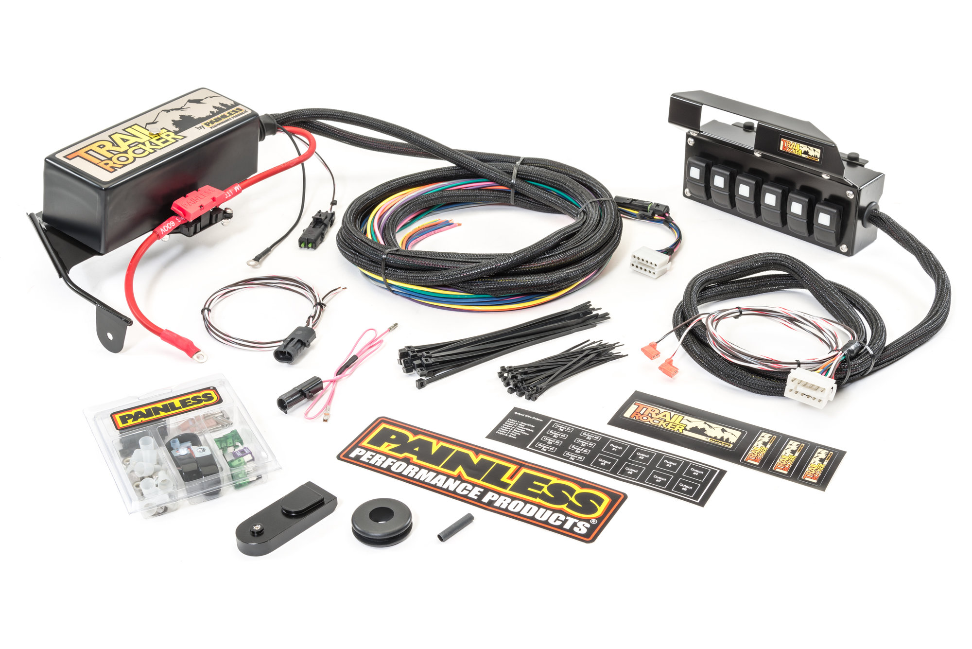 hight resolution of painless wiring trail rocker relay center accessory control for 09 18 jeep wrangler jk
