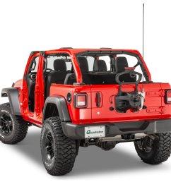 quadratec extreme duty stainless cb radio antenna rear tailgate mount with 48 antenna for 18 19 jeep wrangler jl quadratec [ 2000 x 1335 Pixel ]