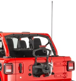 quadratec extreme duty stainless cb radio antenna rear tailgate mount with 48 antenna for 18 19 jeep wrangler jl quadratec [ 1760 x 1787 Pixel ]