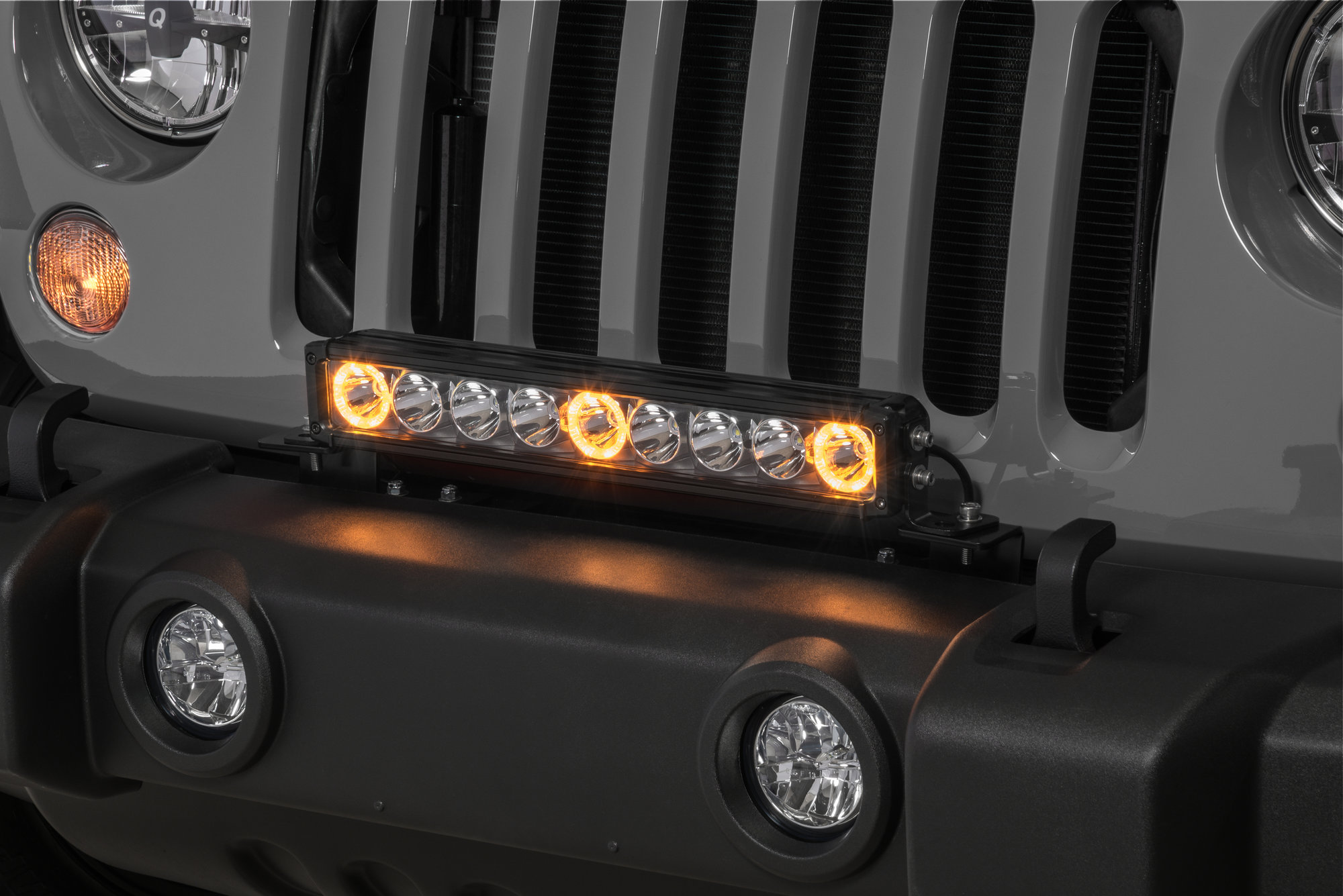 hight resolution of quadratec j3 led 17 light bar with grille mount brackets and wiring for 07 18 jeep wrangler jk quadratec