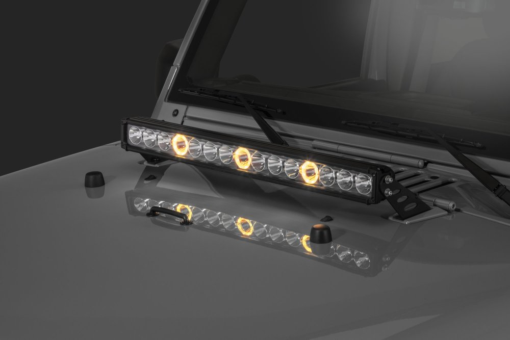 medium resolution of quadratec j3 led 28 light bar with hood mount brackets and wiring for 07 18 jeep wrangler jk quadratec