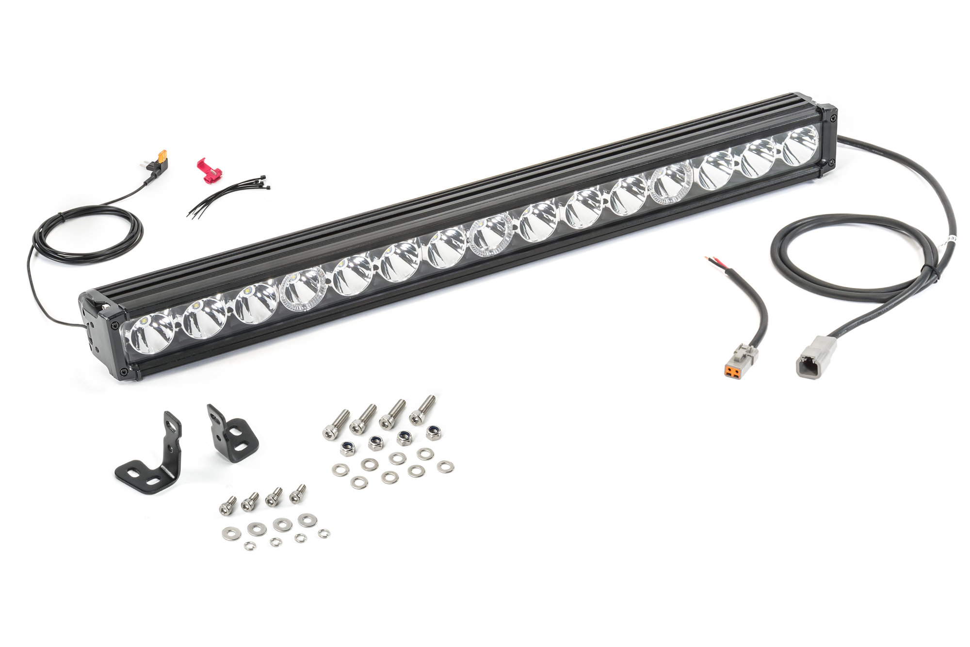 Quadratec J3 Led 28 Light Bar With Amber Clearance Lights