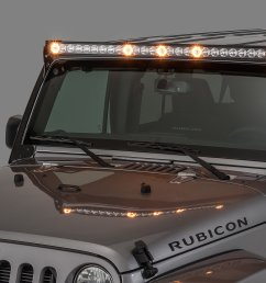 quadratec j5 led light bar with amber clearance cab lights quadratecroof mount off road lights wiring [ 2000 x 1335 Pixel ]