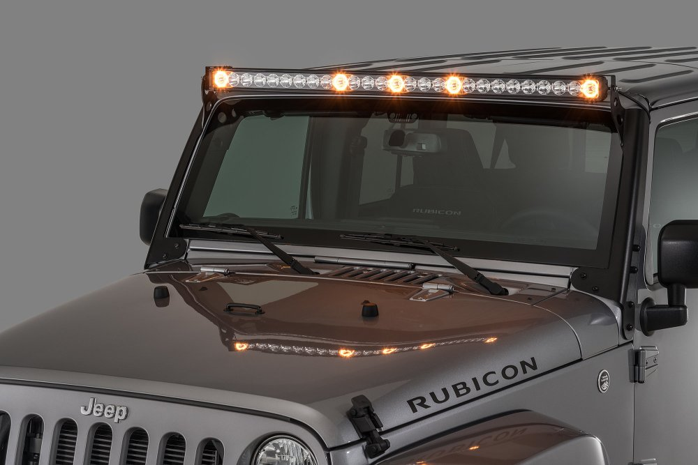 medium resolution of quadratec j5 led light bar with amber clearance cab lights quadratecroof mount off road lights wiring