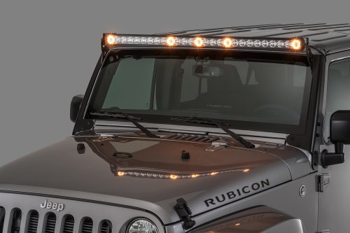 small resolution of quadratec j5 led light bar with amber clearance cab lights quadratecroof mount off road lights wiring