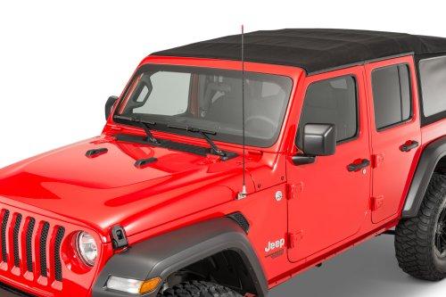 small resolution of quadratec jljt cbfmk stainless steel fender mount cb antenna kit for 18 19 jeep wrangler jl 2020 gladiator jt quadratec