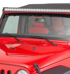 quadratec 2 bolt led light bar windshield pillar mounting brackets for 07 18 jeep wrangler jk quadratec [ 2000 x 1335 Pixel ]