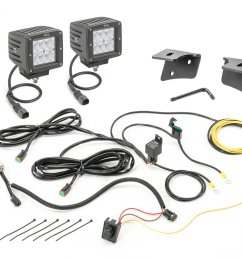 quadratec 3 cube led with wiring harness windshield mounting brackets daystar switch pillar with switches for 07 18 jeep wrangler jk quadratec [ 2000 x 1328 Pixel ]