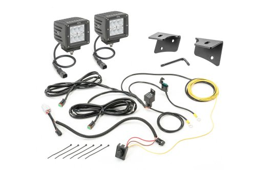 small resolution of quadratec 3 cube led with wiring harness windshield mounting brackets daystar switch pillar