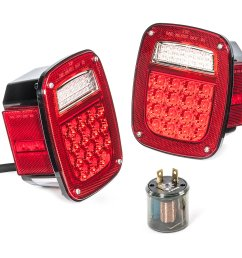 quadratec led tail light kit for 81 86 jeep cj 5 cj 7 cj 8 scrambler quadratec [ 2000 x 1328 Pixel ]
