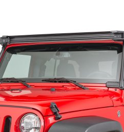 rugged ridge 11232 50 elite fast track windshield light bar mounting brakets for 07 18 jeep wrangler jk quadratec [ 2000 x 1335 Pixel ]