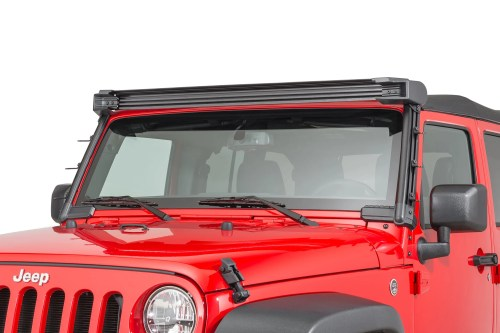 small resolution of rugged ridge 11232 50 elite fast track windshield light bar mounting brakets for 07 18 jeep wrangler jk quadratec