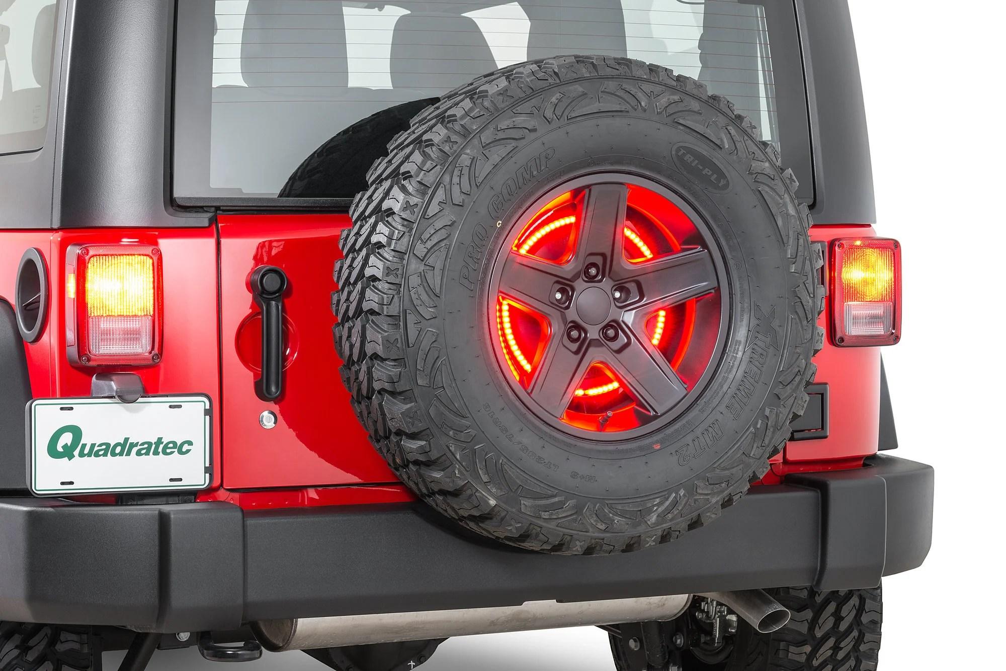 third brake light law 1989 toyota pickup starter wiring diagram rugged ridge 11585 04 3rd led ring for 87 18 jeep wrangler yj tj jk quadratec