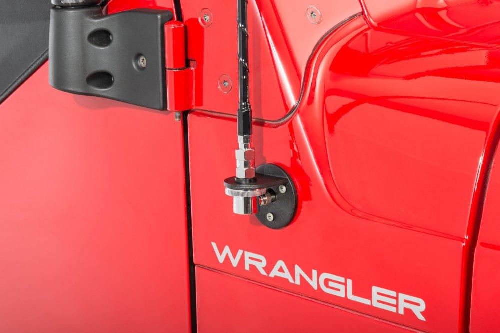 medium resolution of rugged ridge 17212 20 cb am fm antenna mount kit for 07 18 jeep wrangler jk quadratec