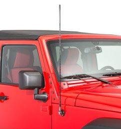 rugged ridge 17212 20 cb am fm antenna mount kit for 07 18 jeep wrangler jk quadratec [ 2000 x 1335 Pixel ]