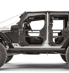 fab fours rear full tube doors for 07 18 jeep wrangler unlimited jk 4 door quadratec [ 1920 x 935 Pixel ]