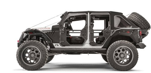 small resolution of fab fours rear full tube doors for 07 18 jeep wrangler unlimited jk 4 door quadratec