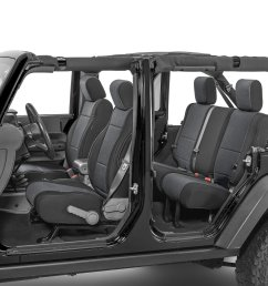 tecstyle custom fit front and rear cloth seat covers for 07 18 jeep wrangler unlimited jk quadratec [ 2000 x 1335 Pixel ]