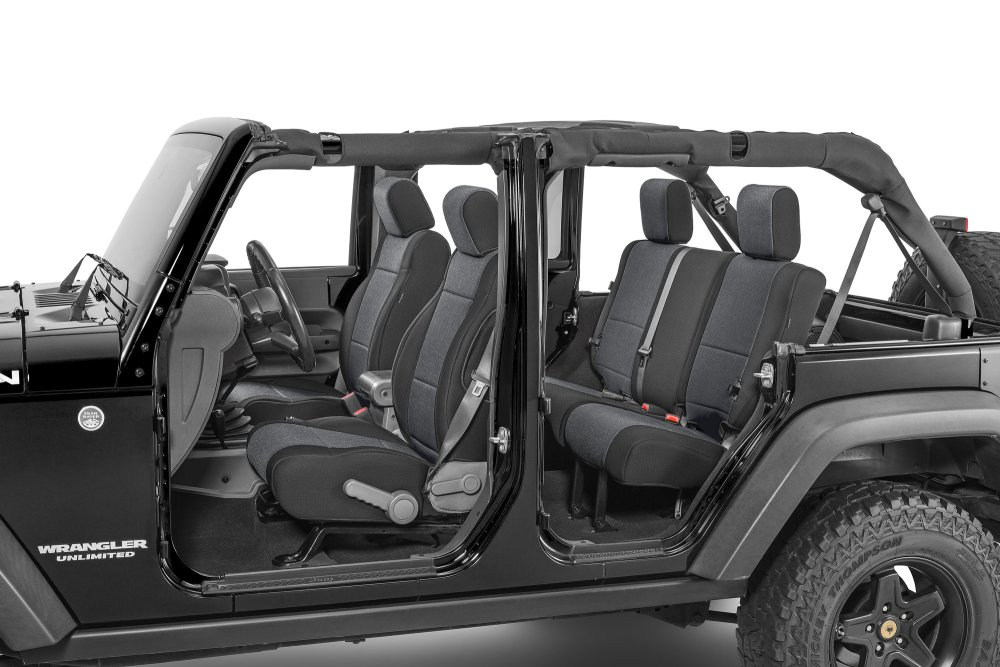 medium resolution of tecstyle custom fit front and rear cloth seat covers for 07 18 jeep wrangler unlimited jk quadratec