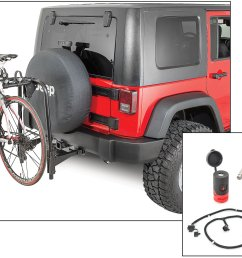 versahitch with bike rack bolt cable lock jeep logo hitch plug wiring kit for 07 18 jeep wrangler jk quadratec [ 2000 x 1336 Pixel ]