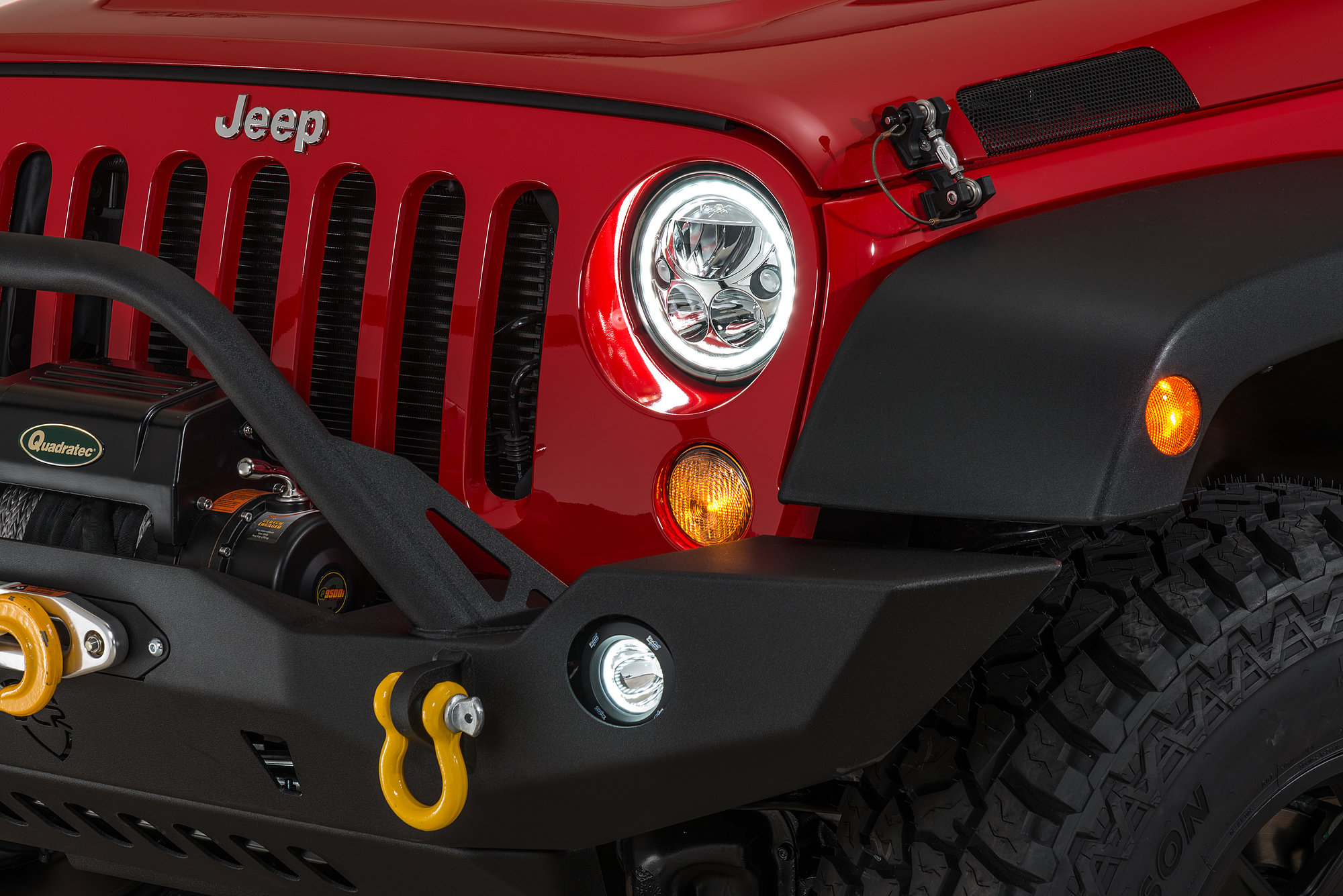hight resolution of previous next vision x vortex halo led headlight pair for 07 18 jeep wrangler jk