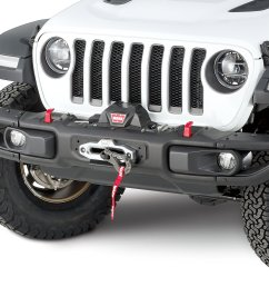 warn 101255 winch mount plate for 18 19 jeep wrangler jl with factory steel bumper quadratec [ 2000 x 1480 Pixel ]