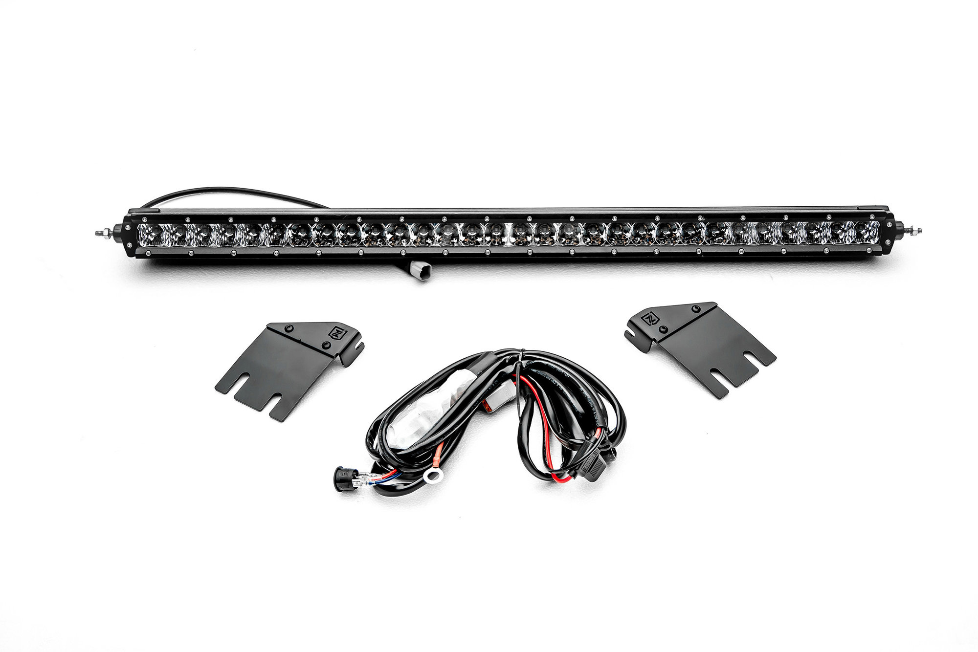 hight resolution of zroadz z364931 kit hood cowl mounting brackets with 1 single row 30 led light bar for 18 19 jeep wrangler jl quadratec