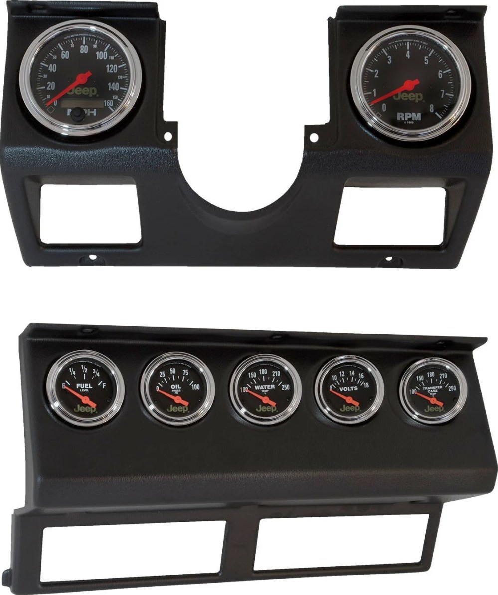 medium resolution of auto meter 7040 dash panel with gauges for 87 95 jeep wrangler yj quadratec