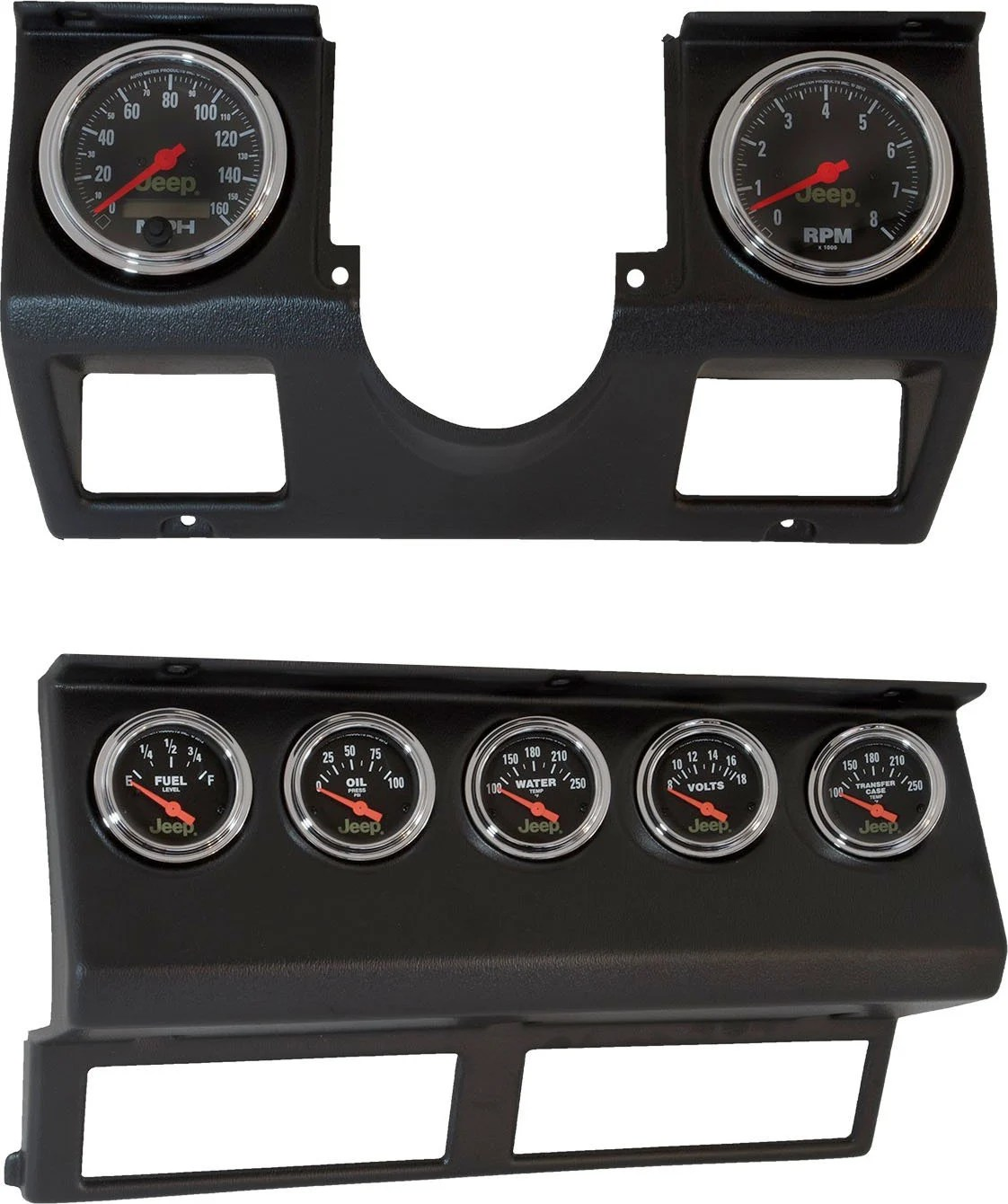 hight resolution of auto meter 7040 dash panel with gauges for 87 95 jeep wrangler yj quadratec