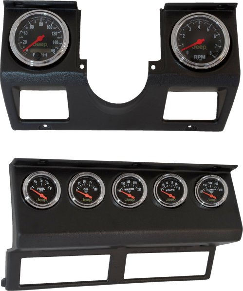 small resolution of auto meter 7040 dash panel with gauges for 87 95 jeep wrangler yj quadratec