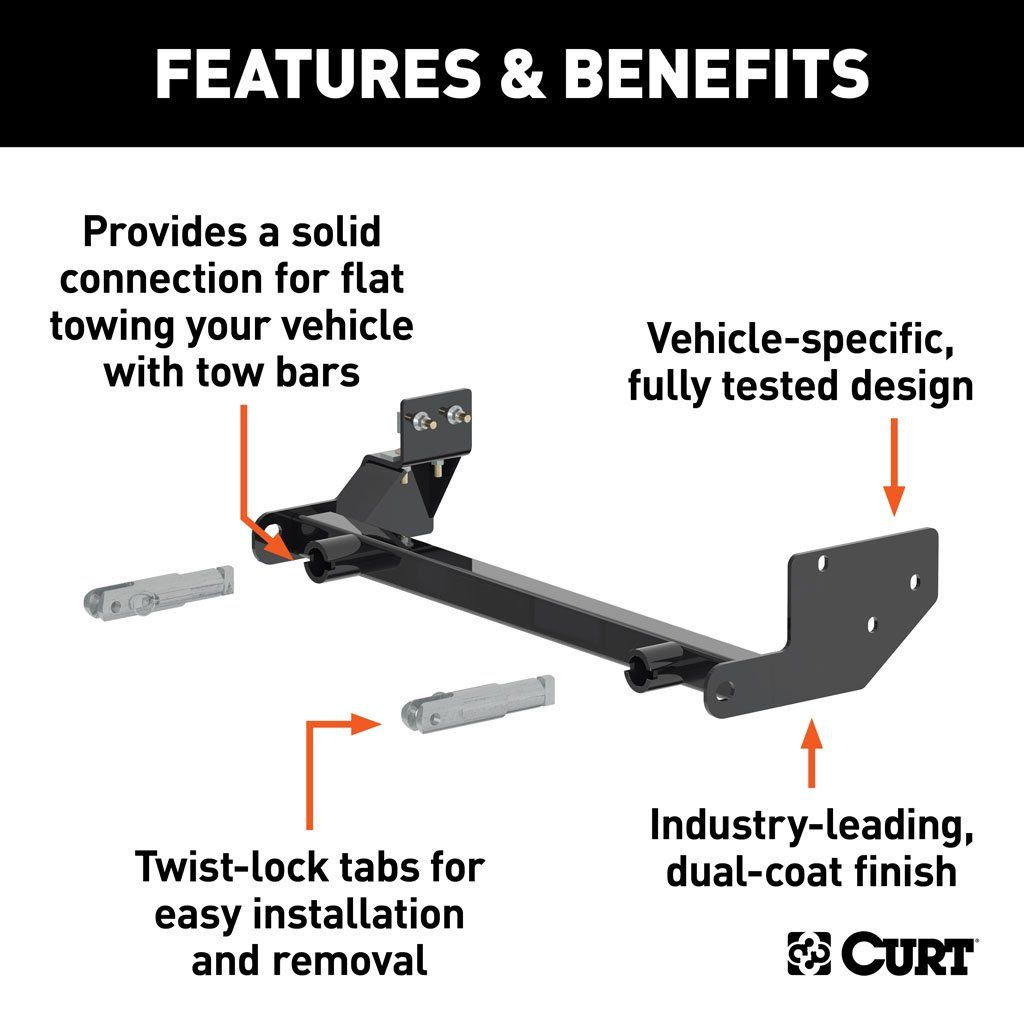 CURT 70112 Custom Tow Bar Base Plate for 97-06 Jeep