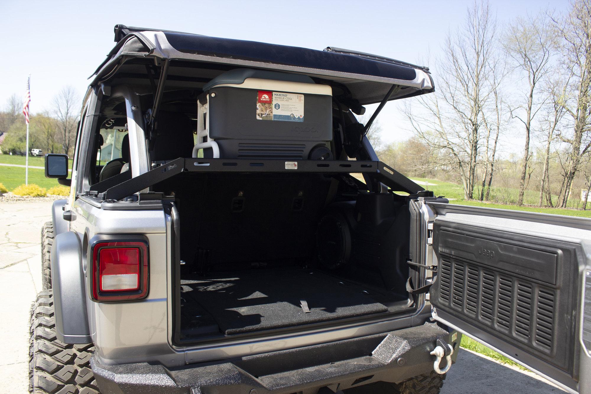 hight resolution of fishbone offroad fb25113 interior storage rack for 18 19 jeep wrangler jl quadratec
