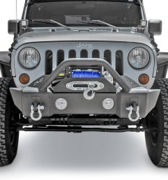 dv8 offroad fbshtb 13 fs 13 hammer forged front stubby bumper for 07 19 jeep wrangler jk and jl 2020 gladiator jt quadratec [ 1022 x 1022 Pixel ]