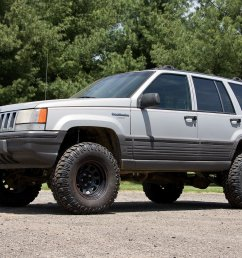 zone offroad products 4 suspension system for 93 98 jeep grand cherokee zj quadratec [ 1500 x 1000 Pixel ]