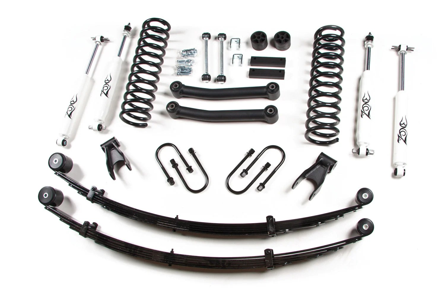 Zone Offroad Products 4 5 Lift Kit With Rear Leaf Springs