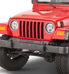 j w speaker 8700 evolution 2 led headlight kit for 45 06 jeep wrangler tj tj unlimited cj quadratec [ 2000 x 1335 Pixel ]