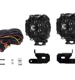 kc hilites 97120 4 round lzr spot led lights with a pillar brackets for [ 2000 x 1600 Pixel ]