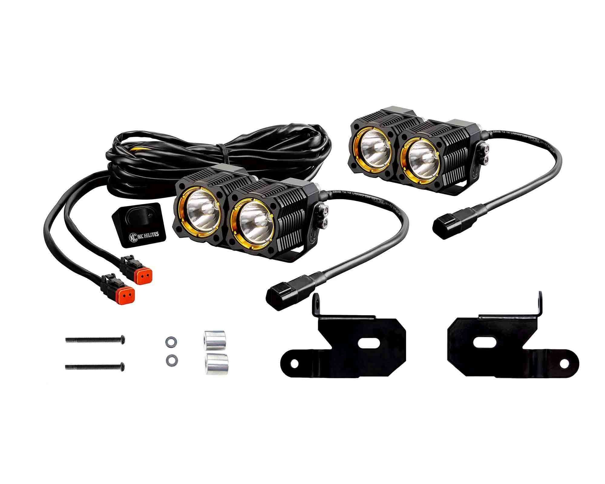 hight resolution of kc hilites flex led dual led lights with a pillar mount brackets for 18