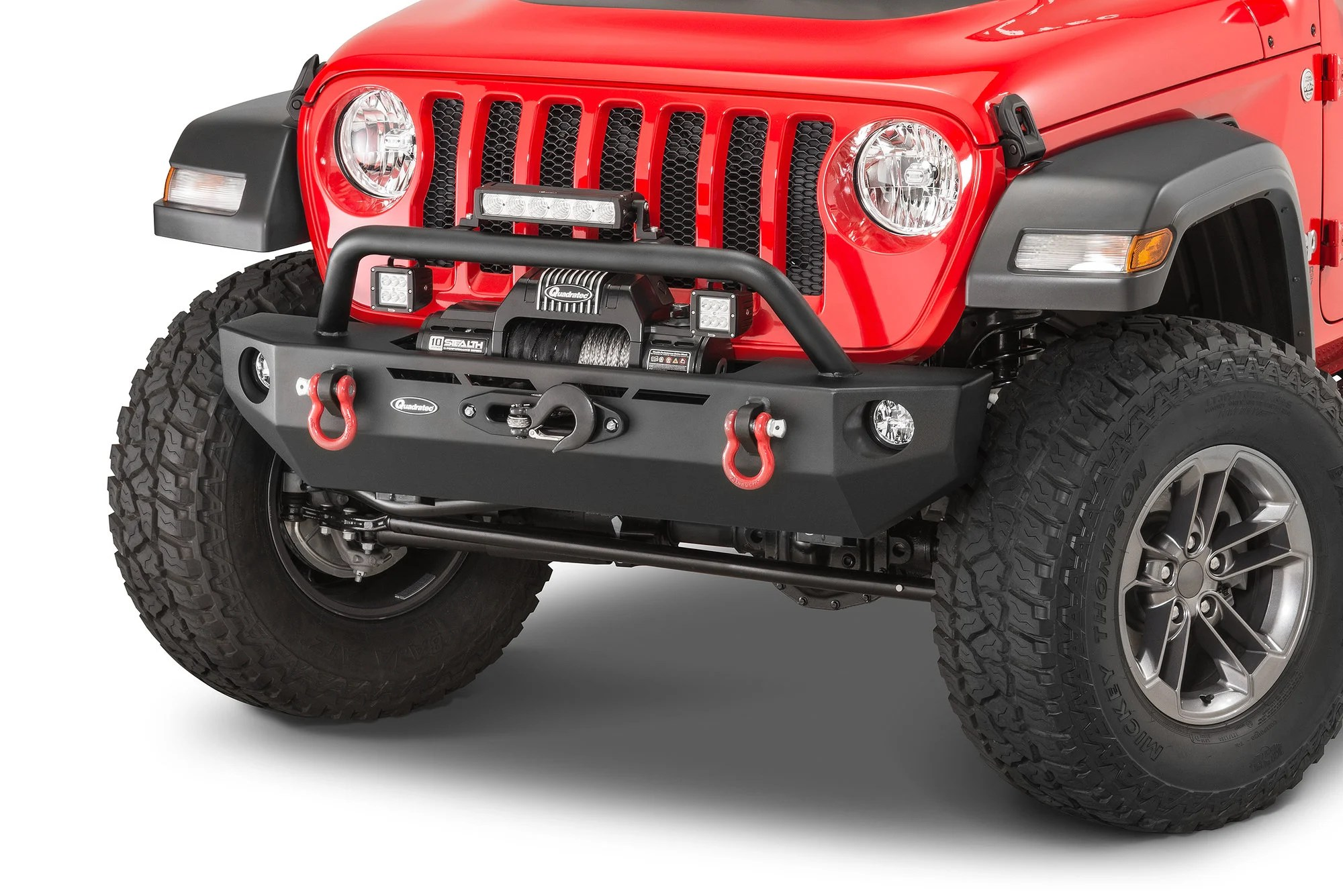hight resolution of quadratec qrc stubby front winch ready bumper for 18 19 jeep wrangler jl quadratec
