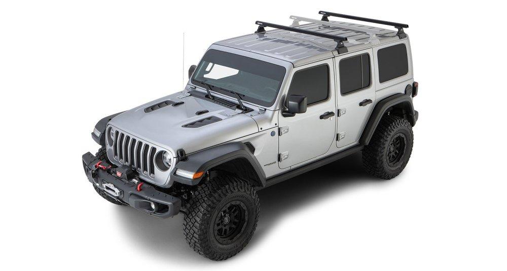 medium resolution of rhino rack 2 bar backbone roof rack with quick mount legs for 18 19 jeep wrangler unlimited jl 4 door w hardtop quadratec