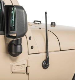 rugged ridge 17212 10 13 stubby reflex antenna for 07 19 jeep wrangler jk jl and 2020 gladiator jt quadratec [ 2000 x 1335 Pixel ]