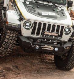 smittybilt 77807 xrc gen2 front bumper for 18 19 jeep wrangler jl quadratec [ 1227 x 1002 Pixel ]